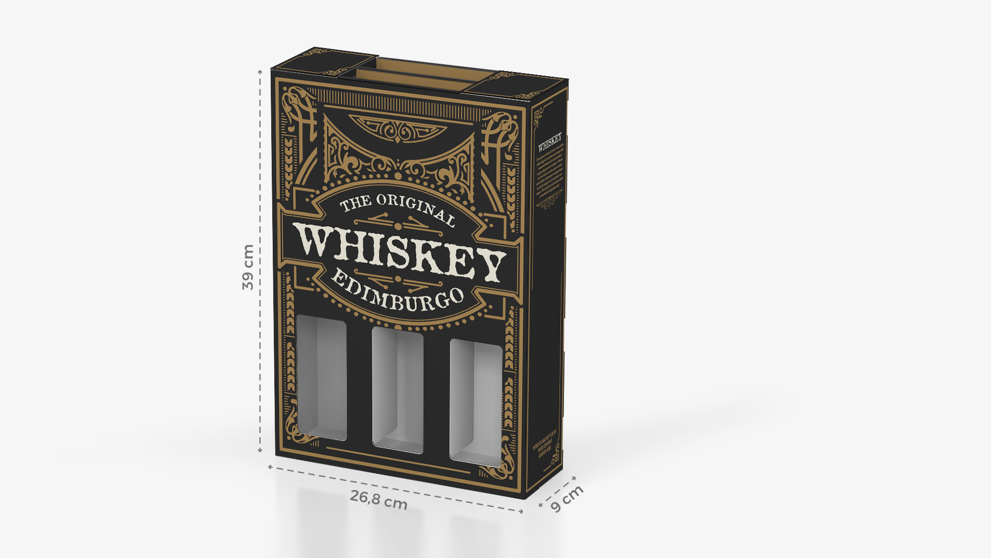 Portabottiglie in cartone 26,8x39 cm con grafica whiskey | tictac.it