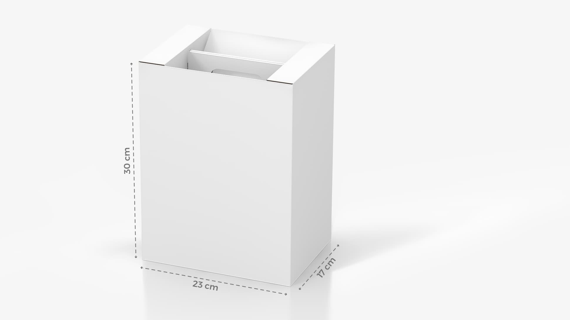 Portabottiglie in cartone 23x30 cm personalizzabile | tictac.it