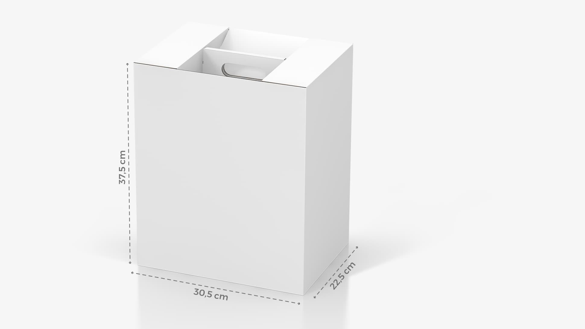 Portabottiglie in cartone 30,5x37,5 cm personalizzabile | tictac.it