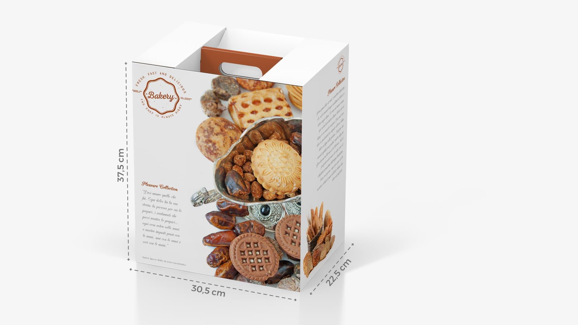 Portabottiglie in cartone 30,5x37,5 cm con grafica dolci | tictac.it