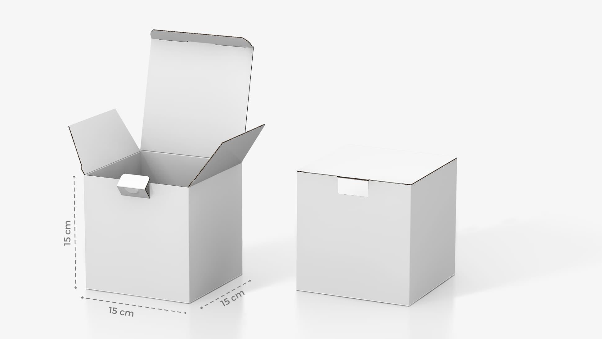 Scatola in cartone 15x15 cm personalizzabile | tictac.it