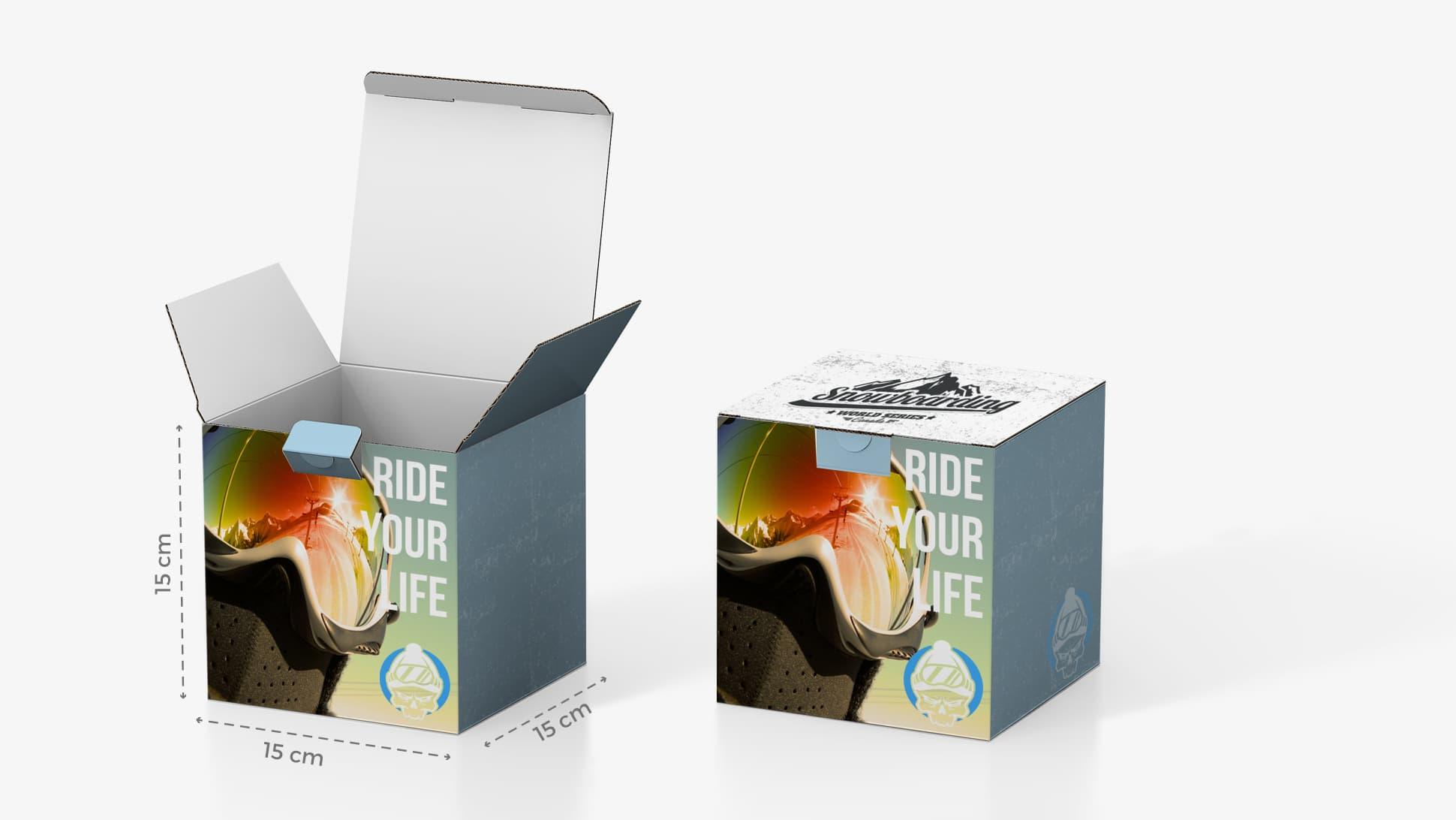 Scatola in cartone 15x15 cm con grafica personalizzata | tictac.it