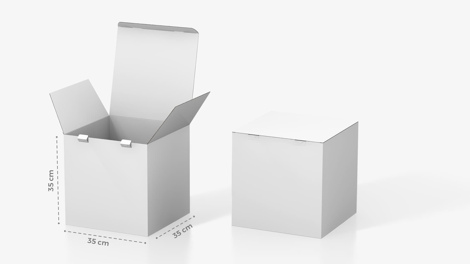 Scatola in cartone 35x35 cm personalizzabile | tictac.it