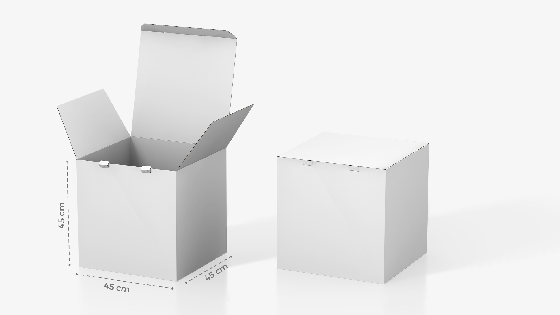 Scatola in cartone 45x45 cm personalizzabile | tictac.it
