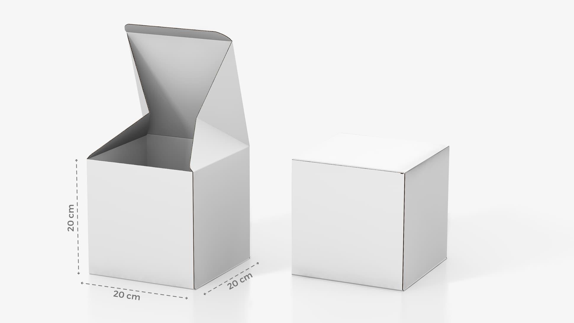 Scatola in cartone 20x20 cm personalizzabile | tictac.it