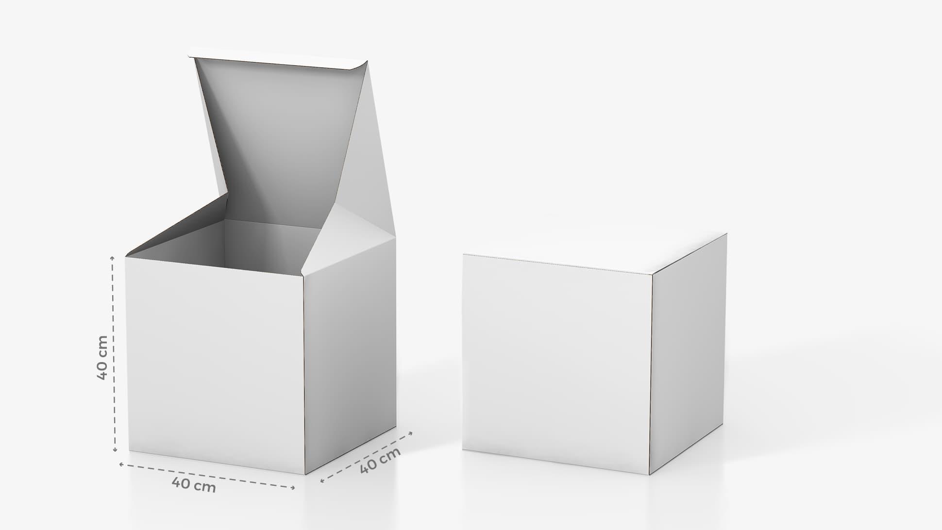 Scatola in cartone 40x40 cm personalizzabile | tictac.it