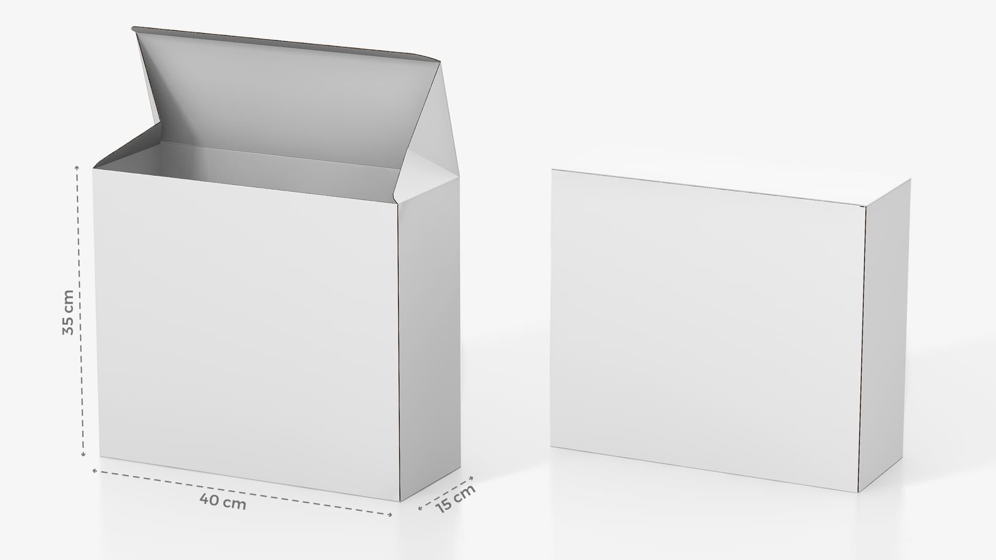 Scatola in cartone 35x40 cm personalizzabile | tictac.it