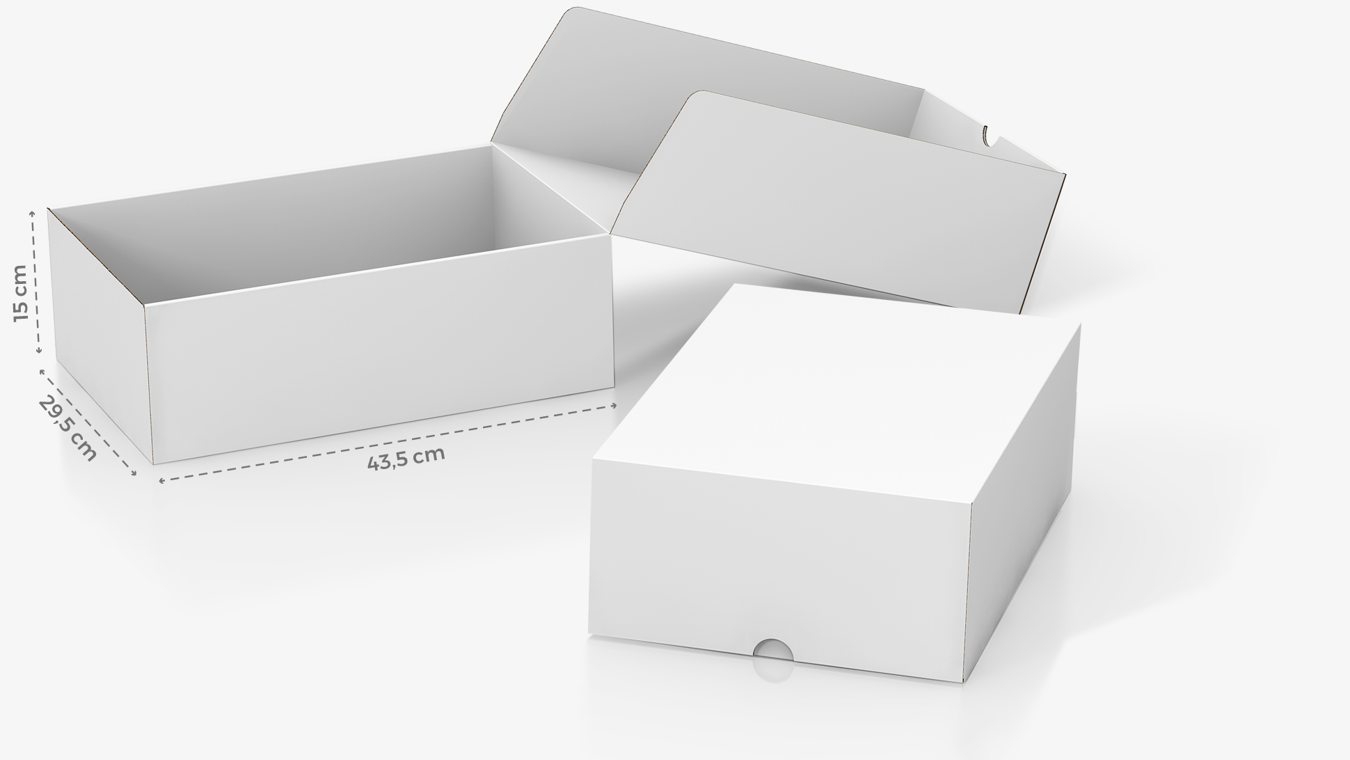 Scatola in cartone 43,5x15 cm personalizzabile | tictac.it