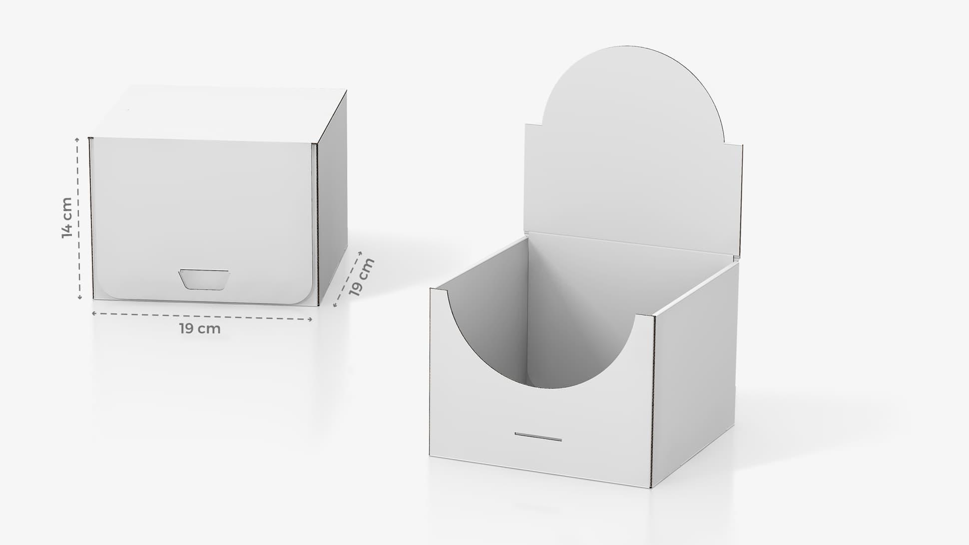Scatola in cartone 19x14 cm personalizzabile | tictac.it