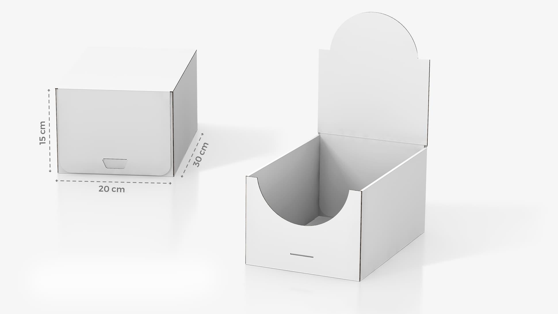 Scatola in cartone 20x15x30 cm personalizzabile | tictac.it