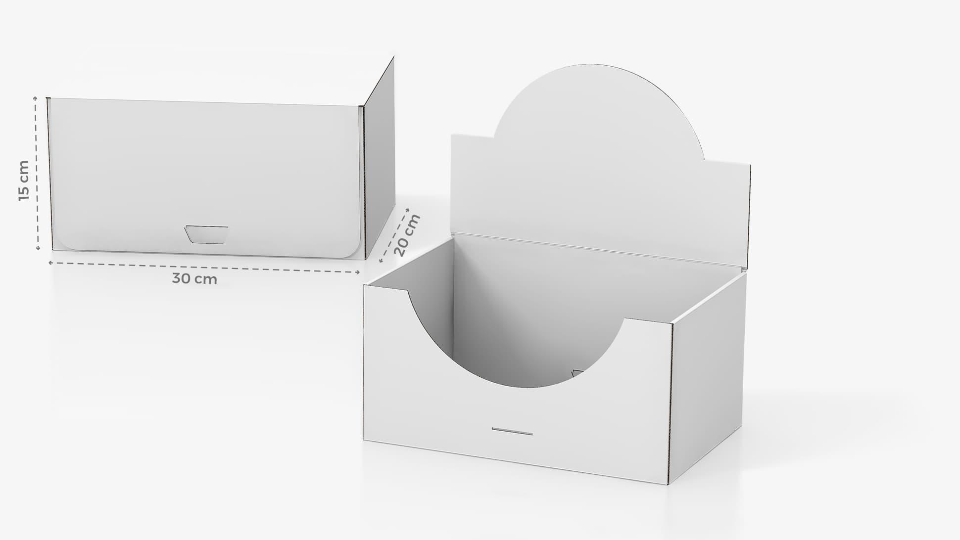 Scatola in cartone 30x15x20 cm personalizzabile | tictac.it