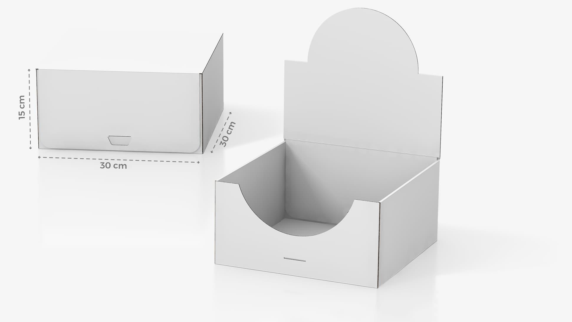 Scatola in cartone 30x15x30 cm personalizzabile | tictac.it