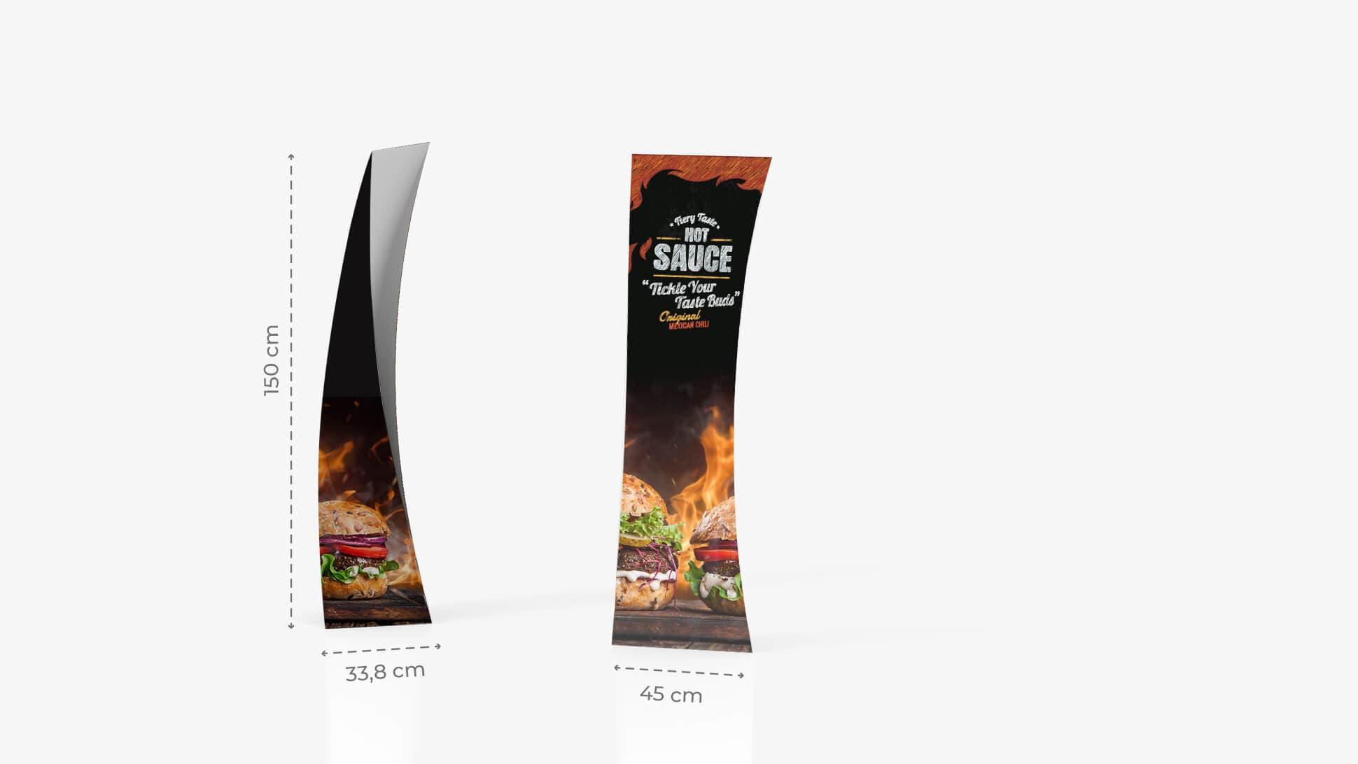 Totem pubblicitario  monofacciale 150x45cm | tictac.it