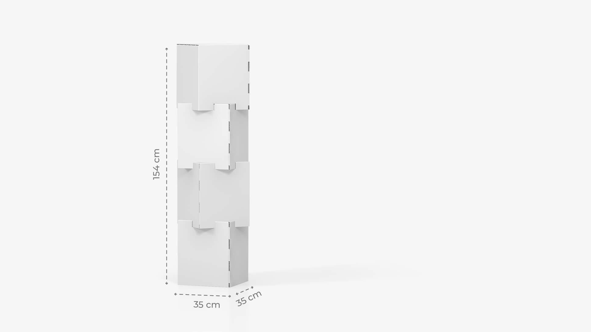 Espositore personalizzabile con 4 cubi sovrapposti h154 cm | tictac.it