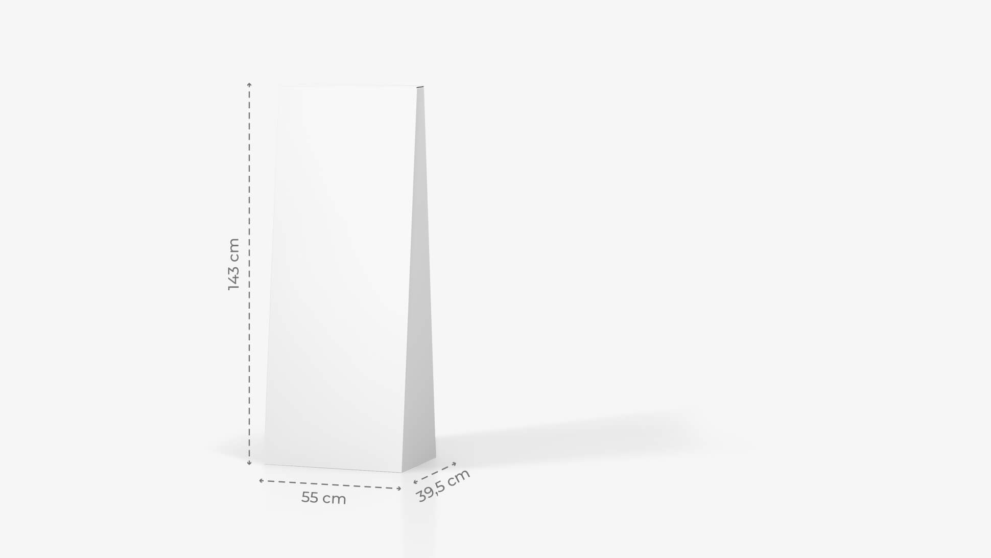 Espositore trapezio personalizzato h143 cm  | tictac.it
