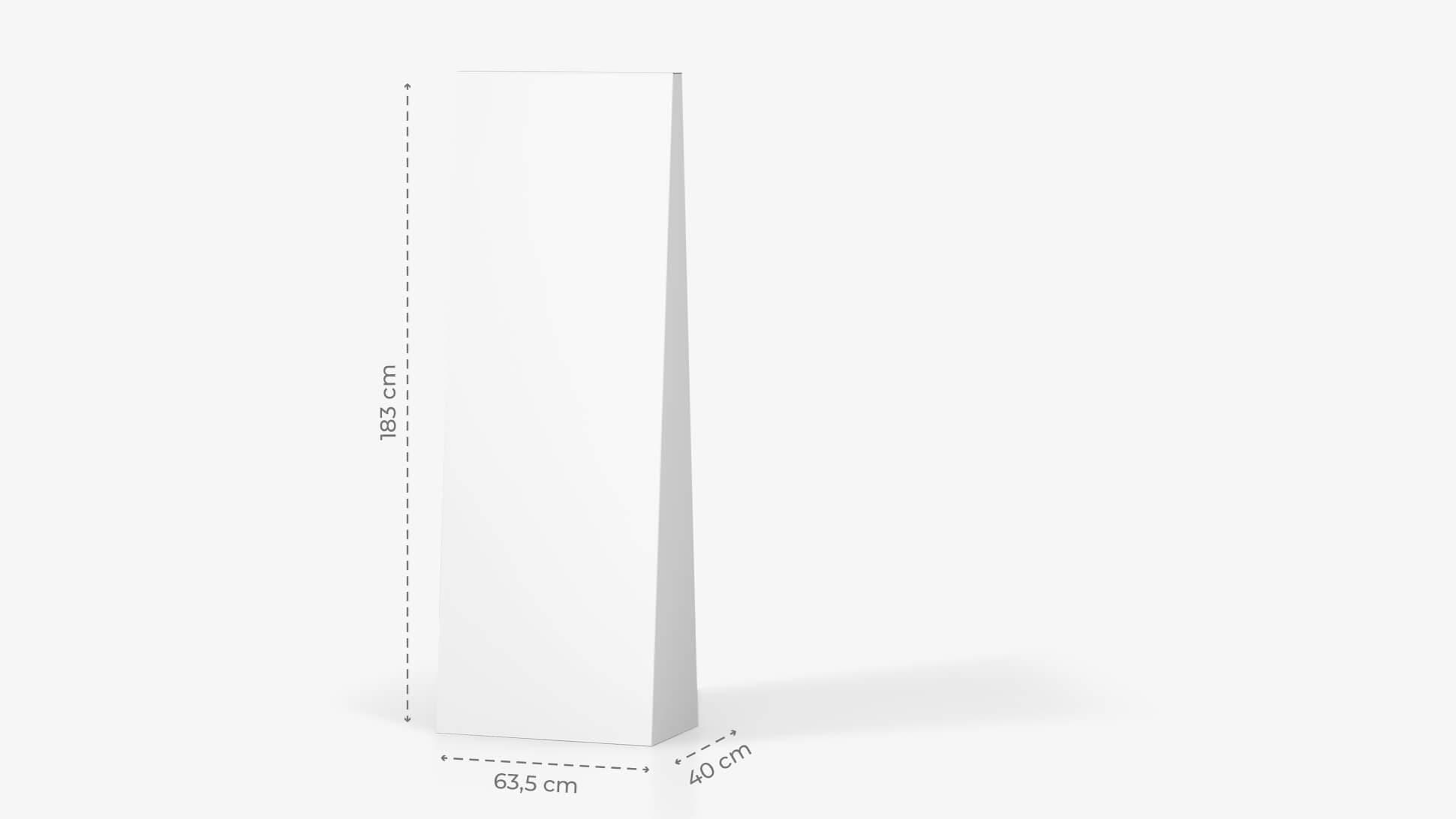 Espositore trapezio h183 cm personalizzabile  | tictac.it