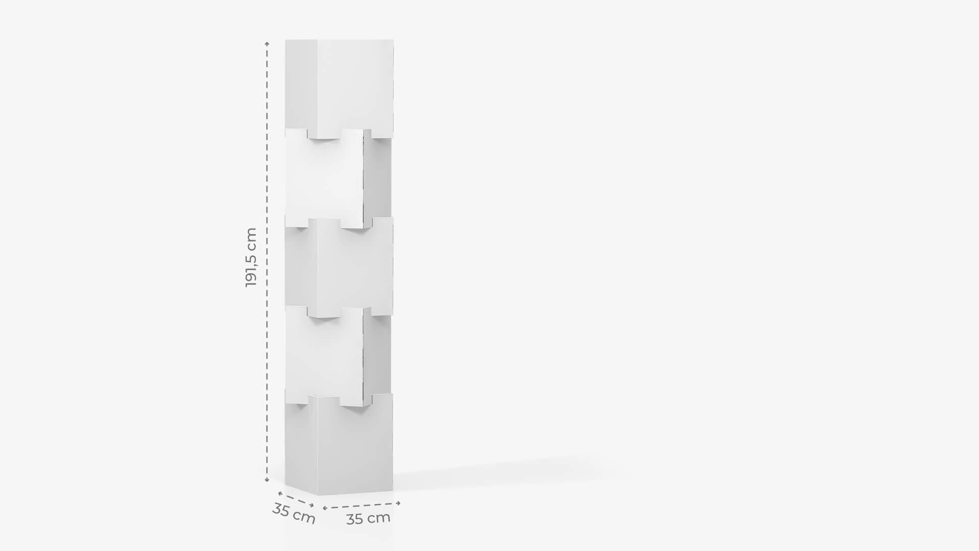 Espositore personalizzabile con 4 cubi sovrapposti h191,5 cm | tictac.it