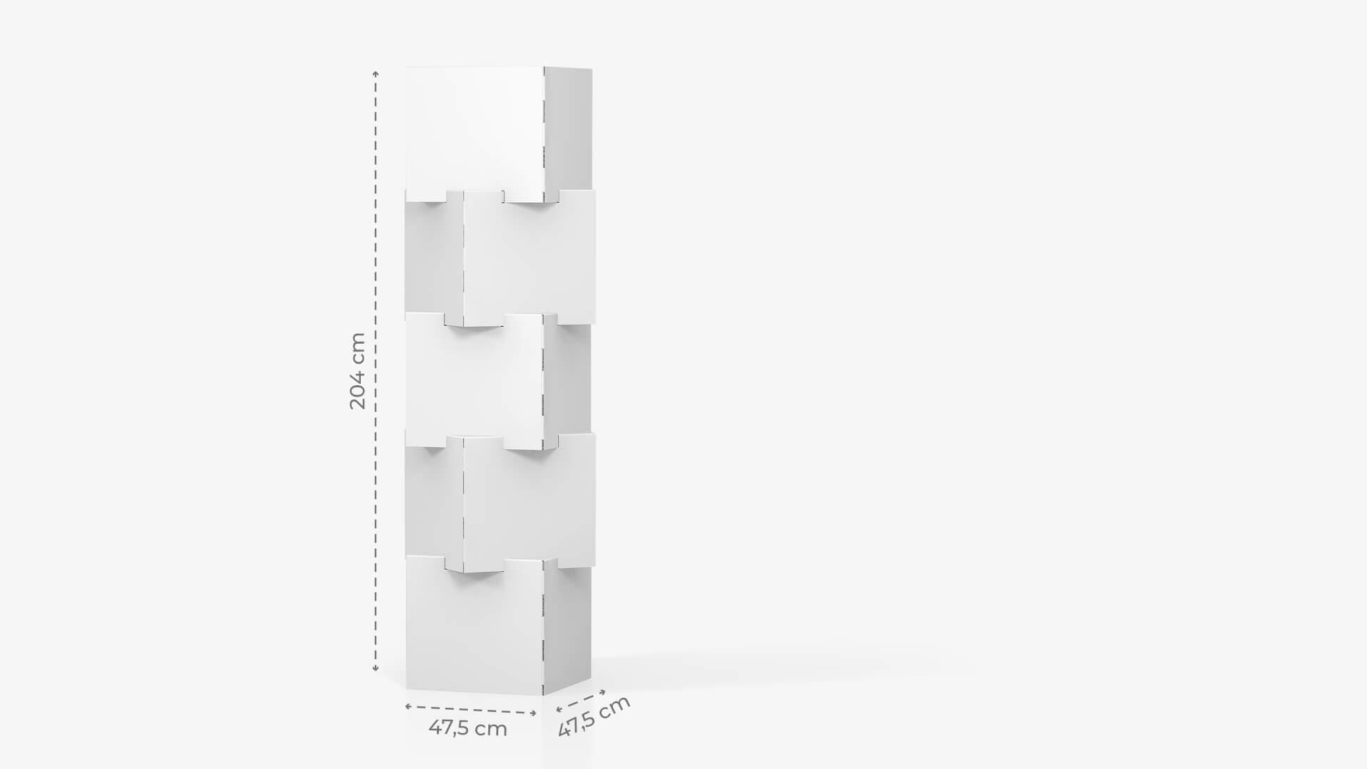 Espositore personalizzabile con 4 cubi sovrapposti h204 cm | tictac.it