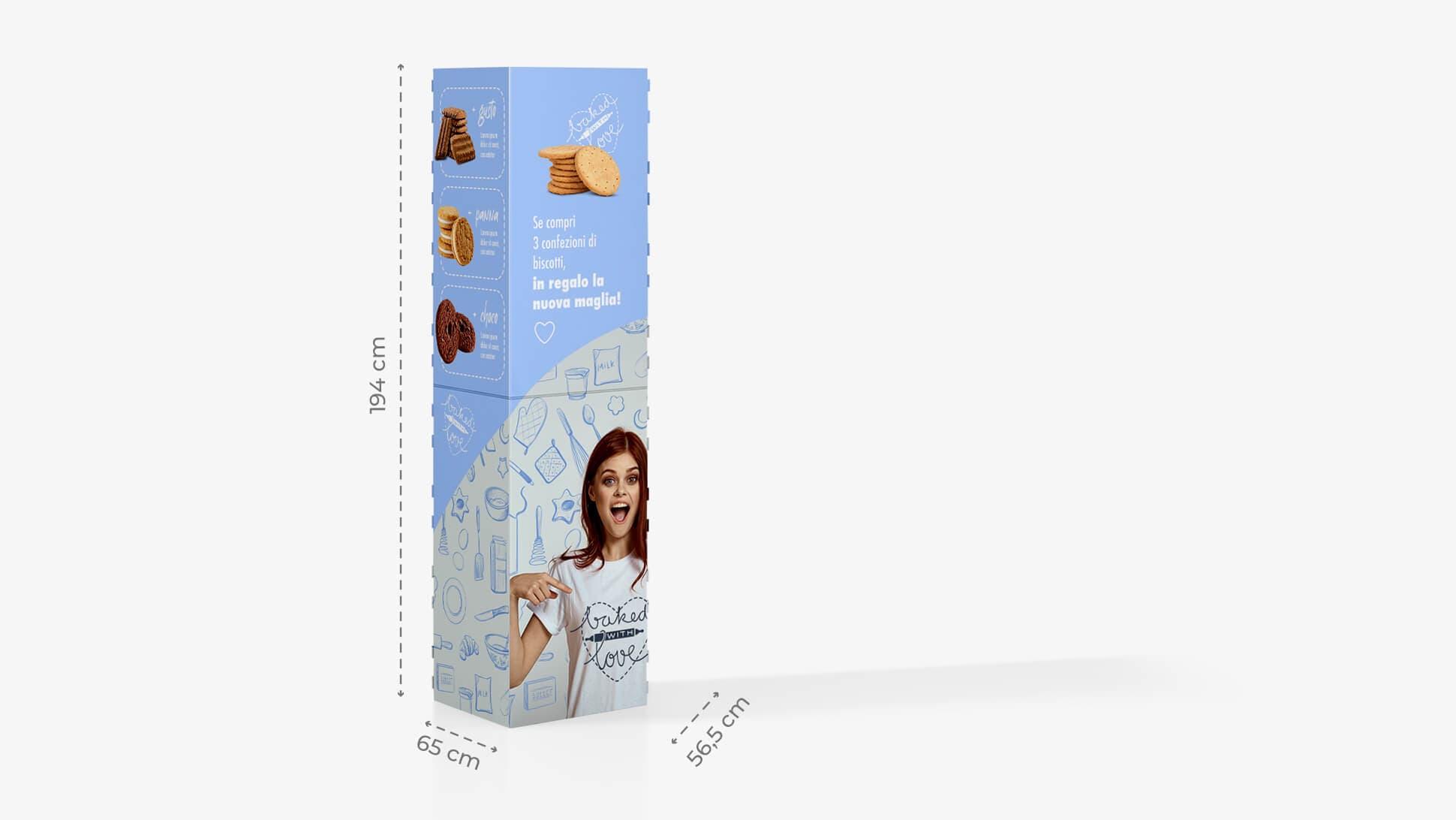 Espositore h194 cm grafica biscotti | tictac.it