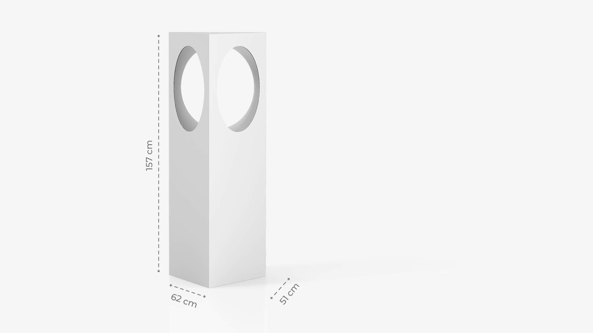 Contenitore espositivo h157 cm con grafica personalizzata | tictac.it