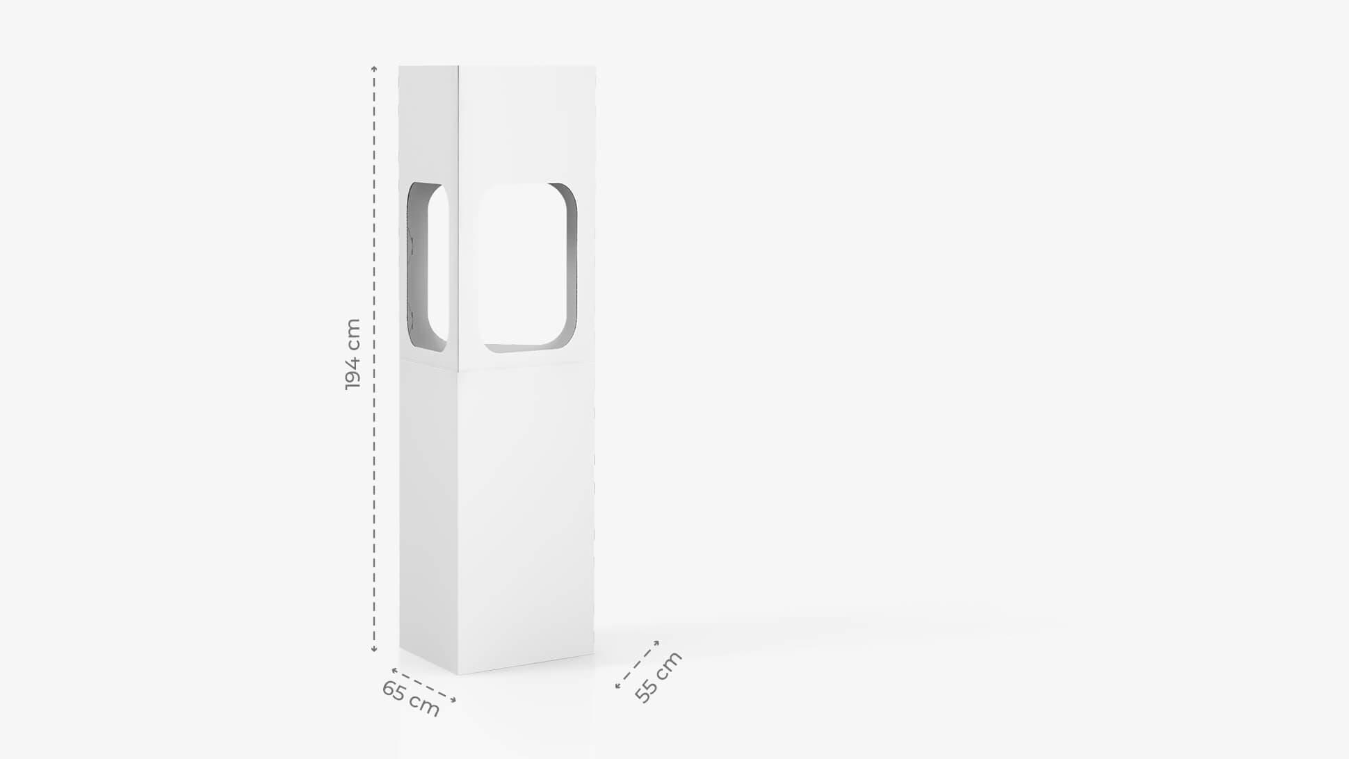 Contenitore espositivo h194 cm con grafica personalizzata | tictac.it