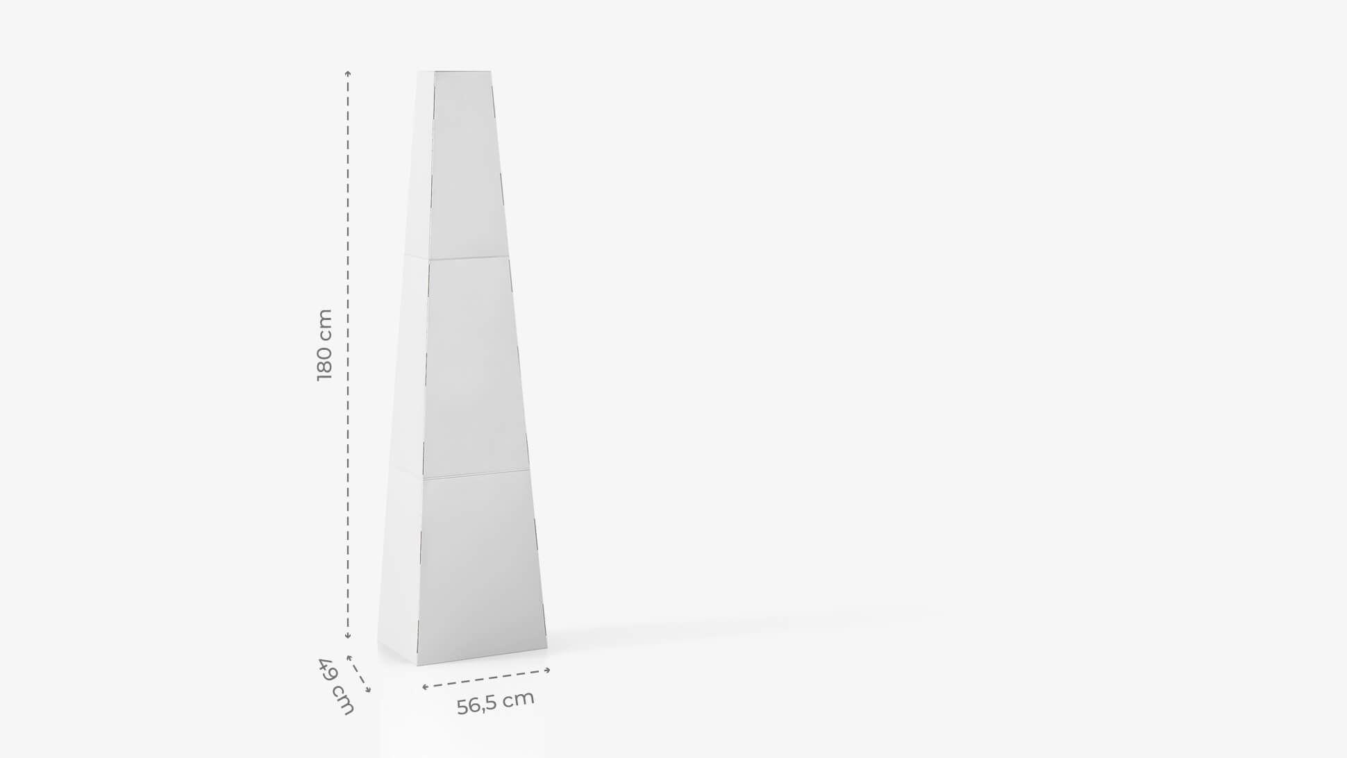 Display a piramide h180 cm personalizzabile | tictac.it