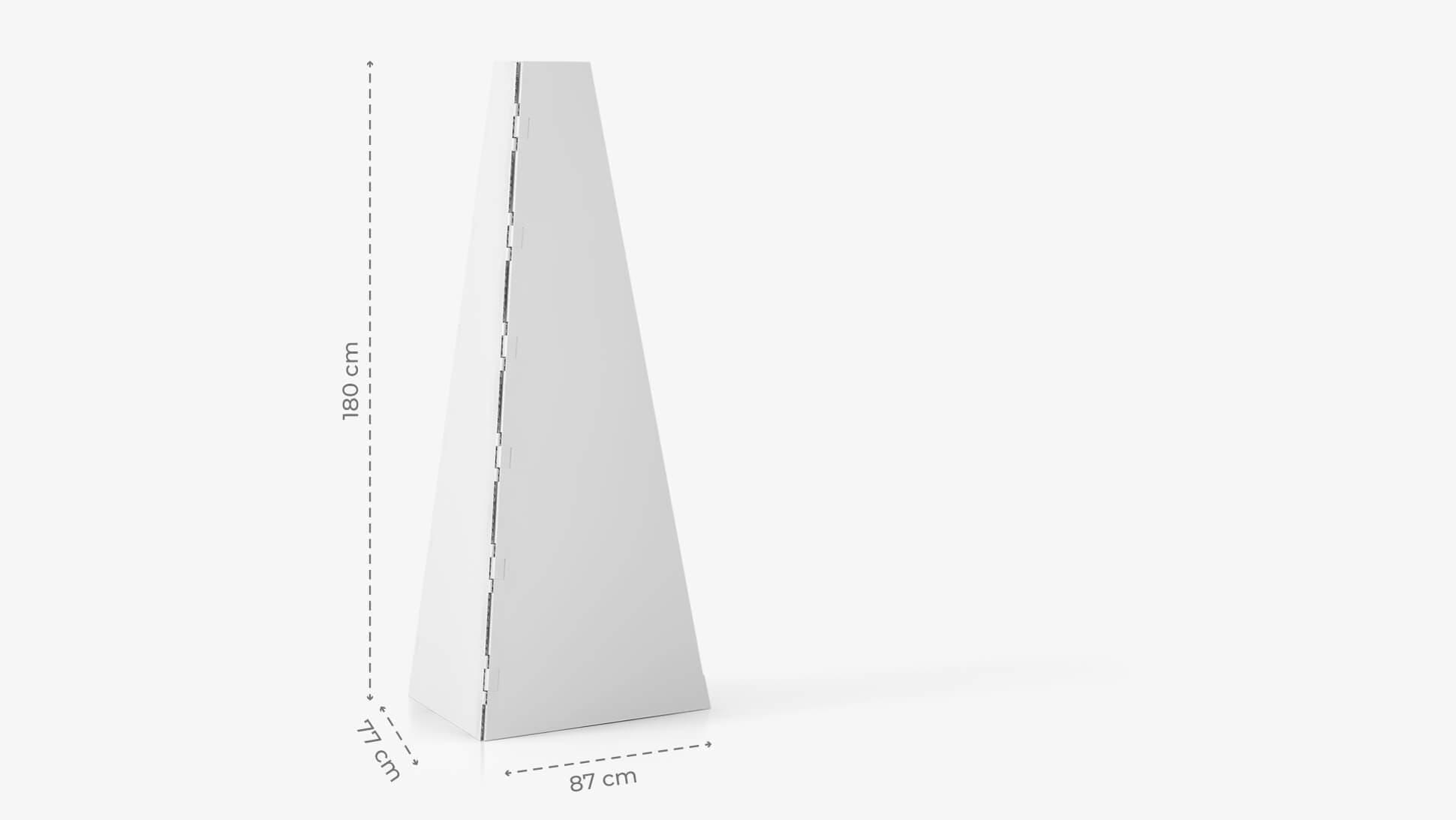 Display piramidale personalizzabile h180 cm | tictac.it