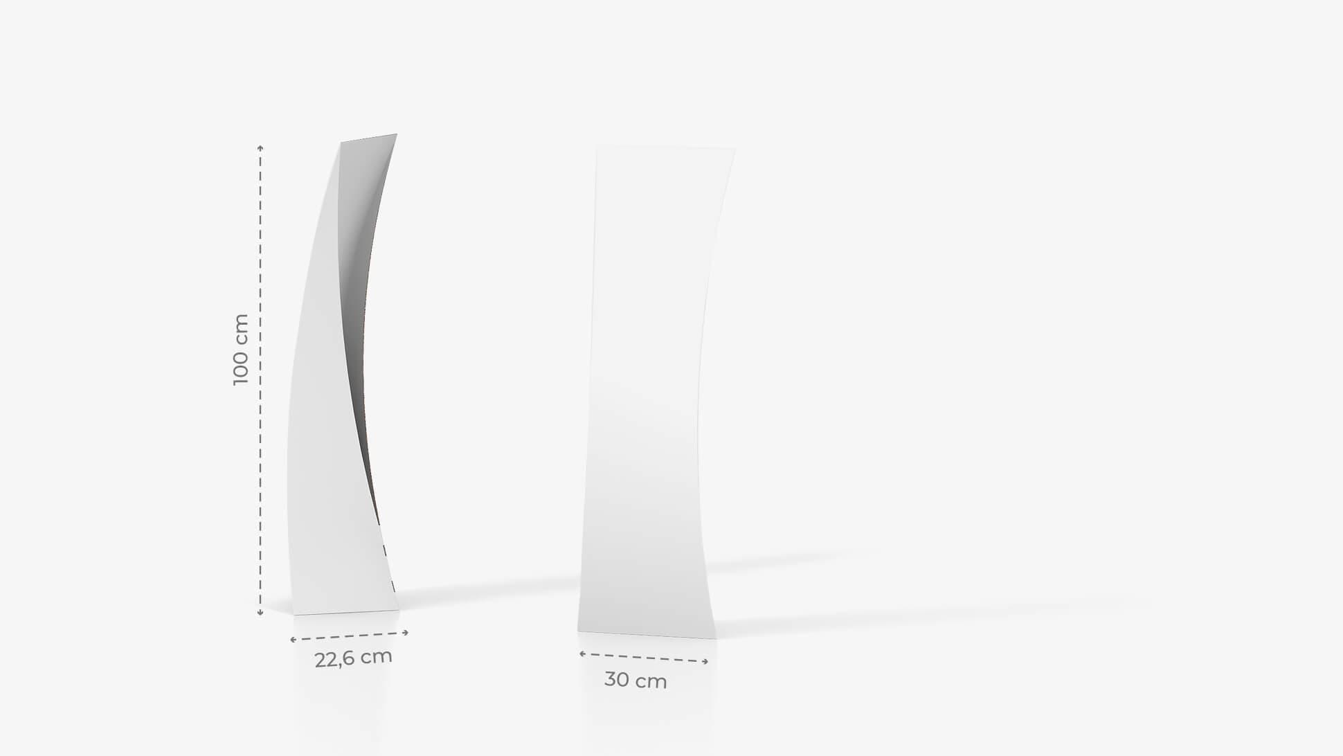 Totem pubblicitario personalizzato 100x30cm | tictac.it