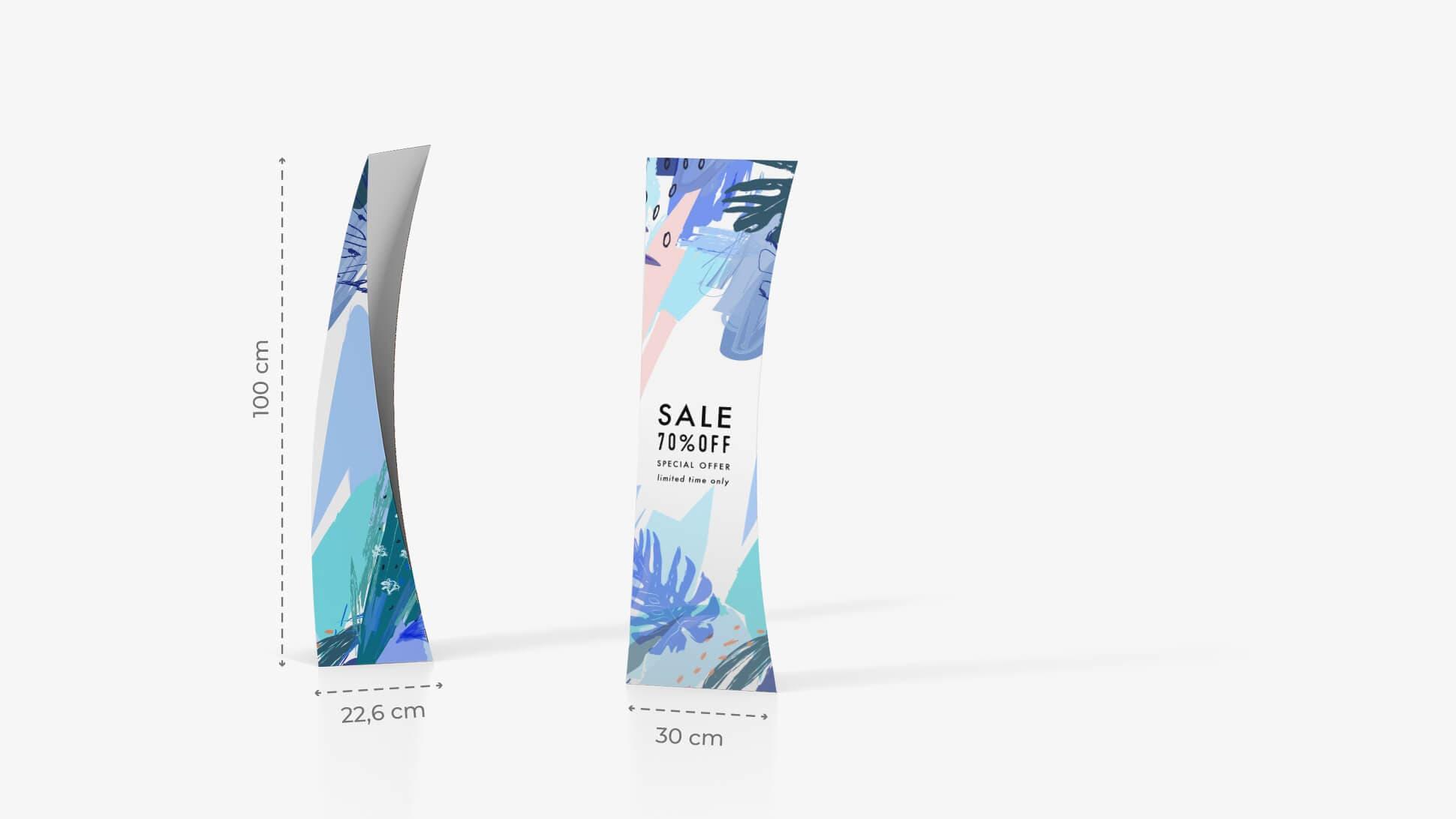 Totem pubblicitario 100x30cm | tictac.it
