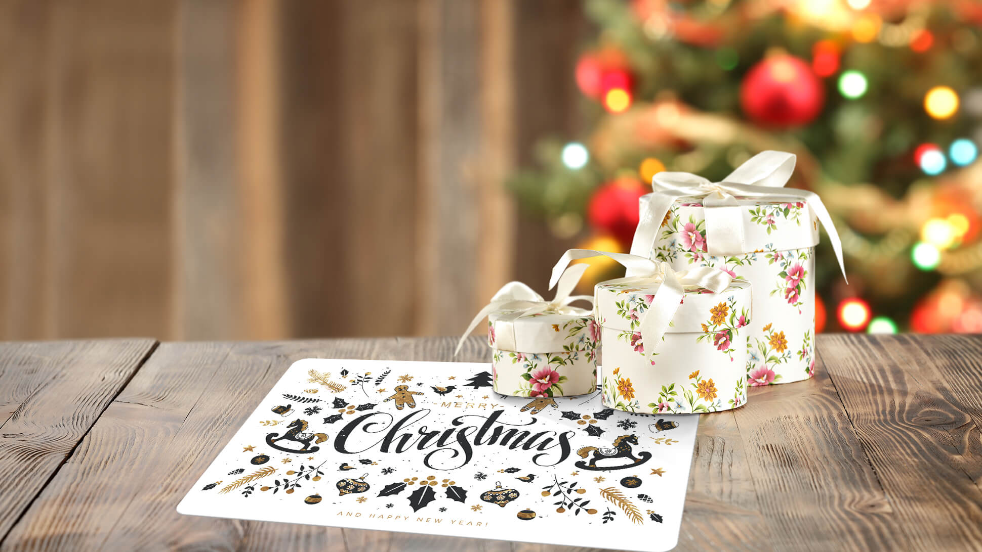 tovagliette con grafica prestampata per festività natalizie | tictac.it