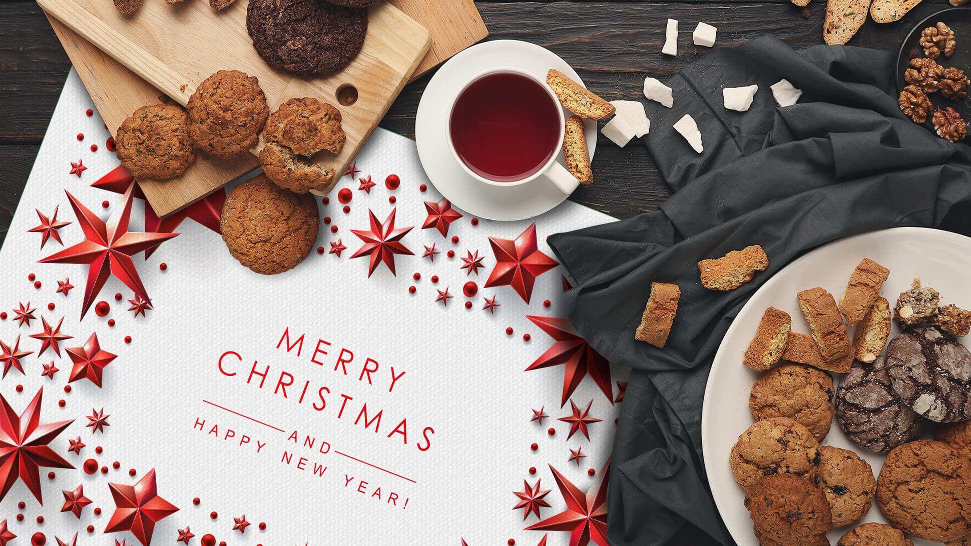 Tovagliette per festività natalizie con grafica rossa | tictac.it