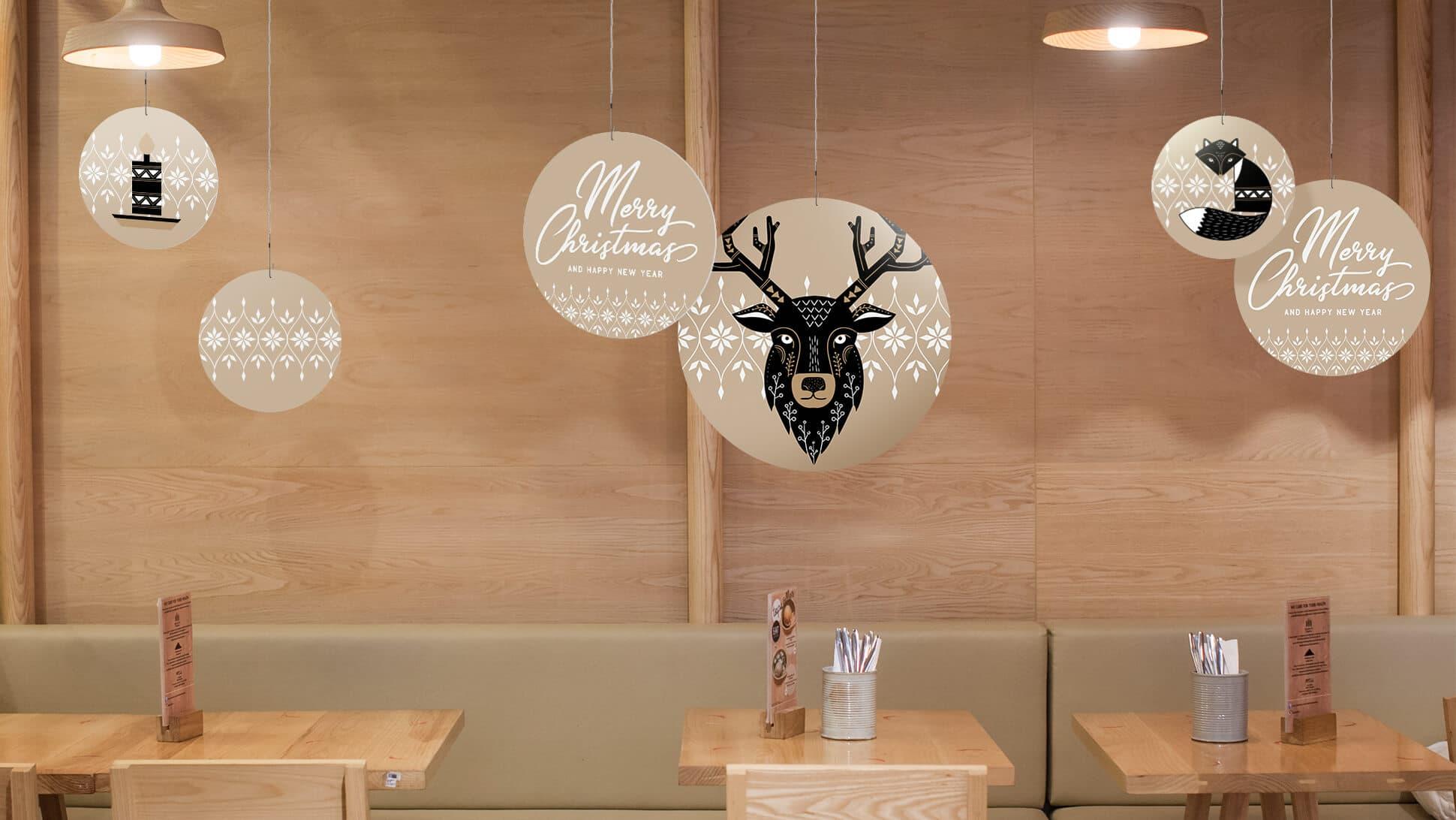 rotair beige con animali per allestimento locali e negozi| tictac.it