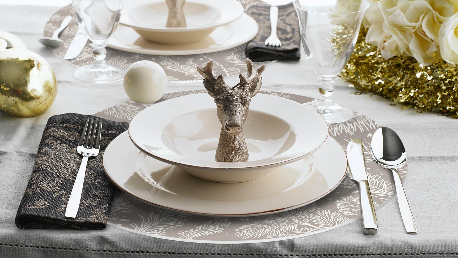 Sottopiatto in Forex per allestimenti natalizi delle tavole | tictac.it