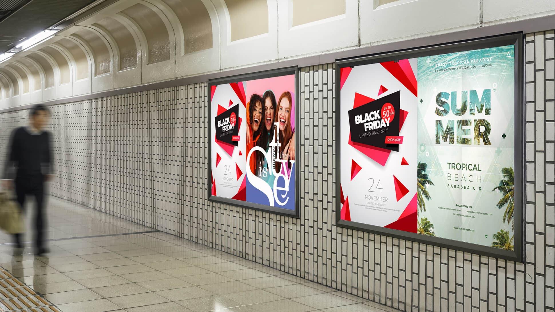 Manifesti per messaggi pubblicitari metro 70x100 | tictac.it