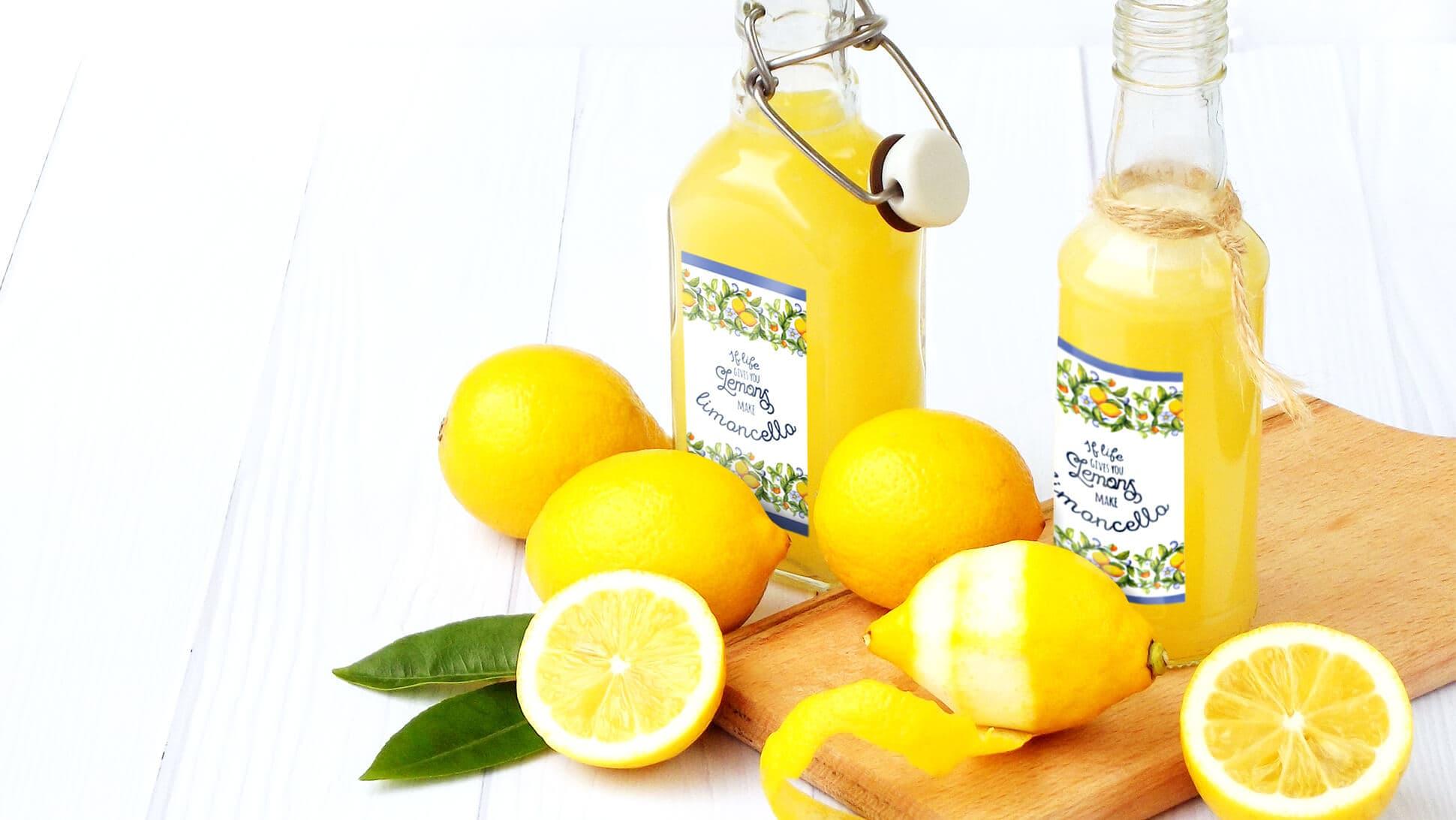Etichette in bobina per limoncello e altri liquori | tictac.it