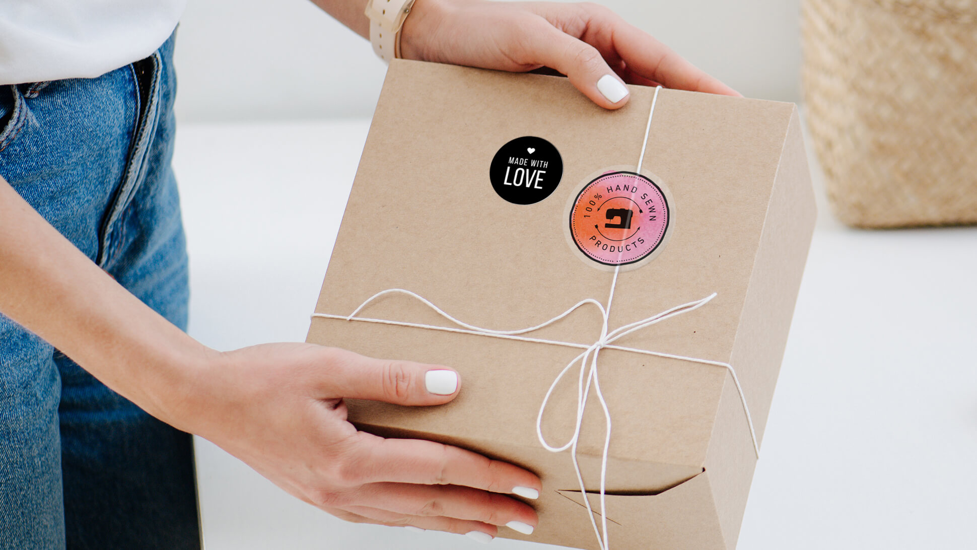 Chiudipacco adesivi personalizzati per prodotti hand made e confezioni | tictac.it