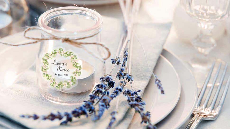 Etichette personalizzabili per barattoli di vetro  | tictac.it