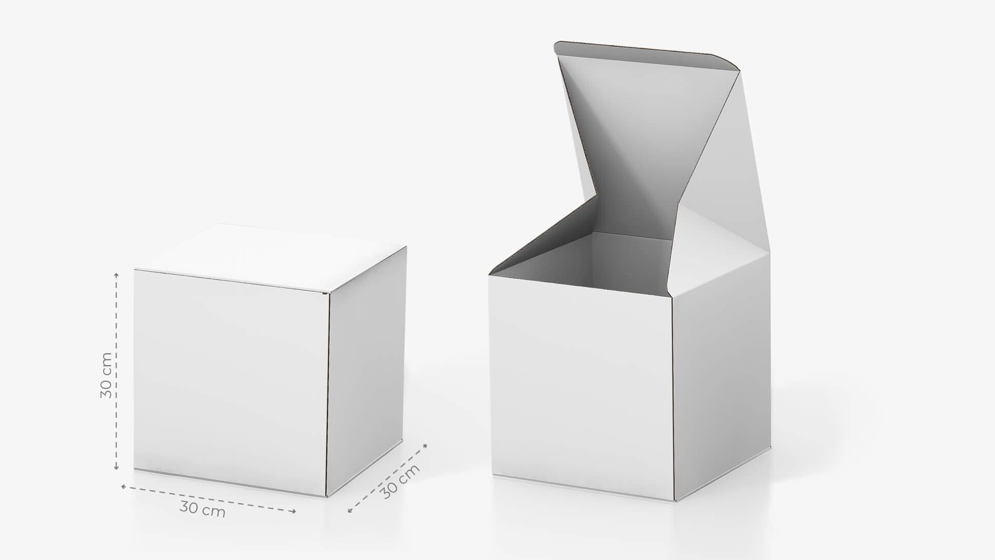 Scatola in cartone 30x30 cm personalizzabile | tictac.it