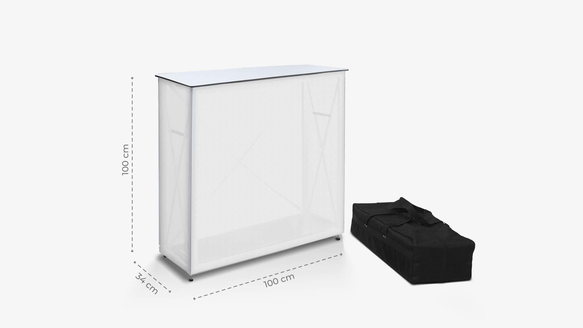 Desk promozionale con struttura metallica | tictac.it