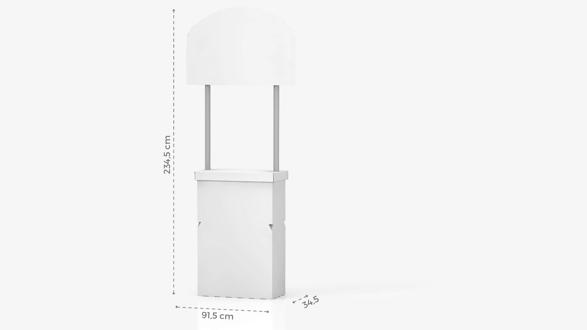 Desk con crowner personalizzabile h234,5 cm | tictac.it