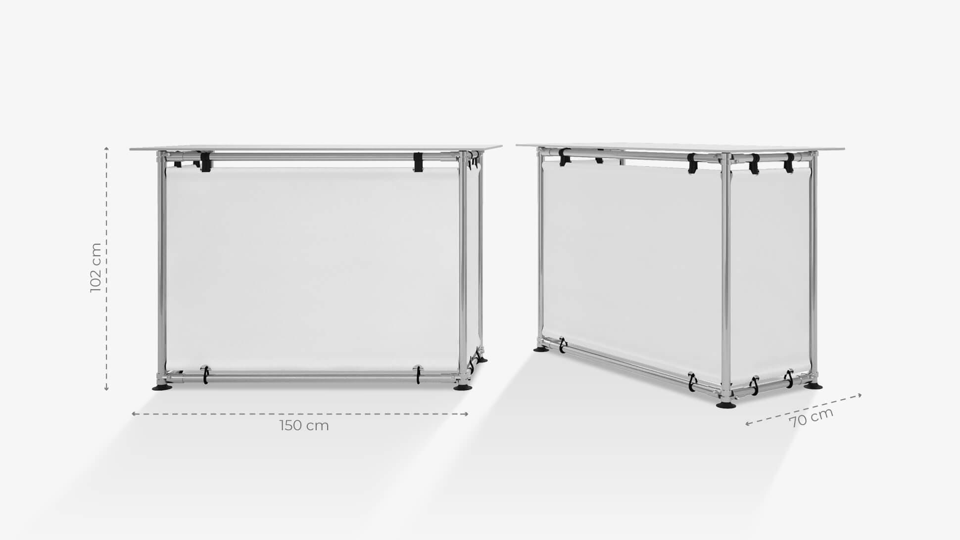 Banchetto promozionale 102x150 cm personalizzabile | tictac.it