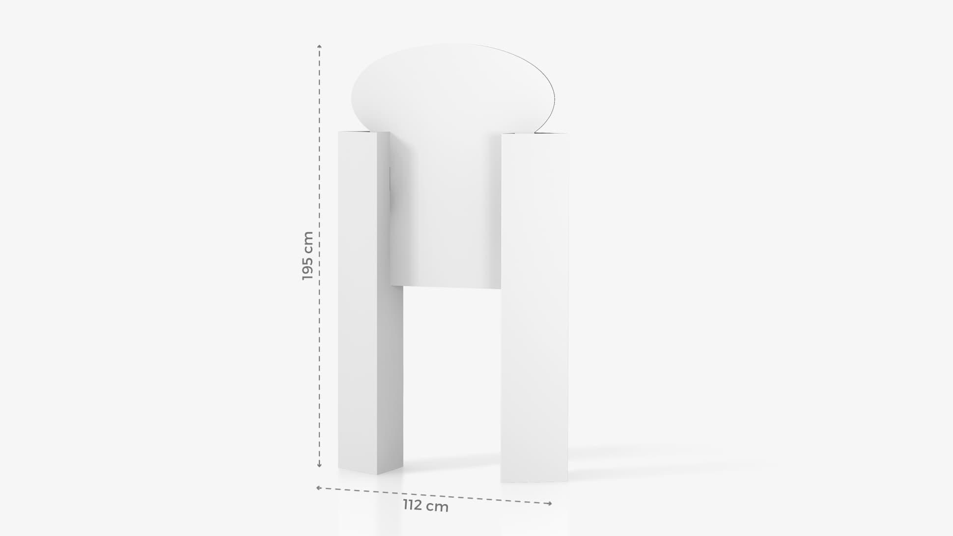 Display insegna h195 cm personalizzabile | tictac.it