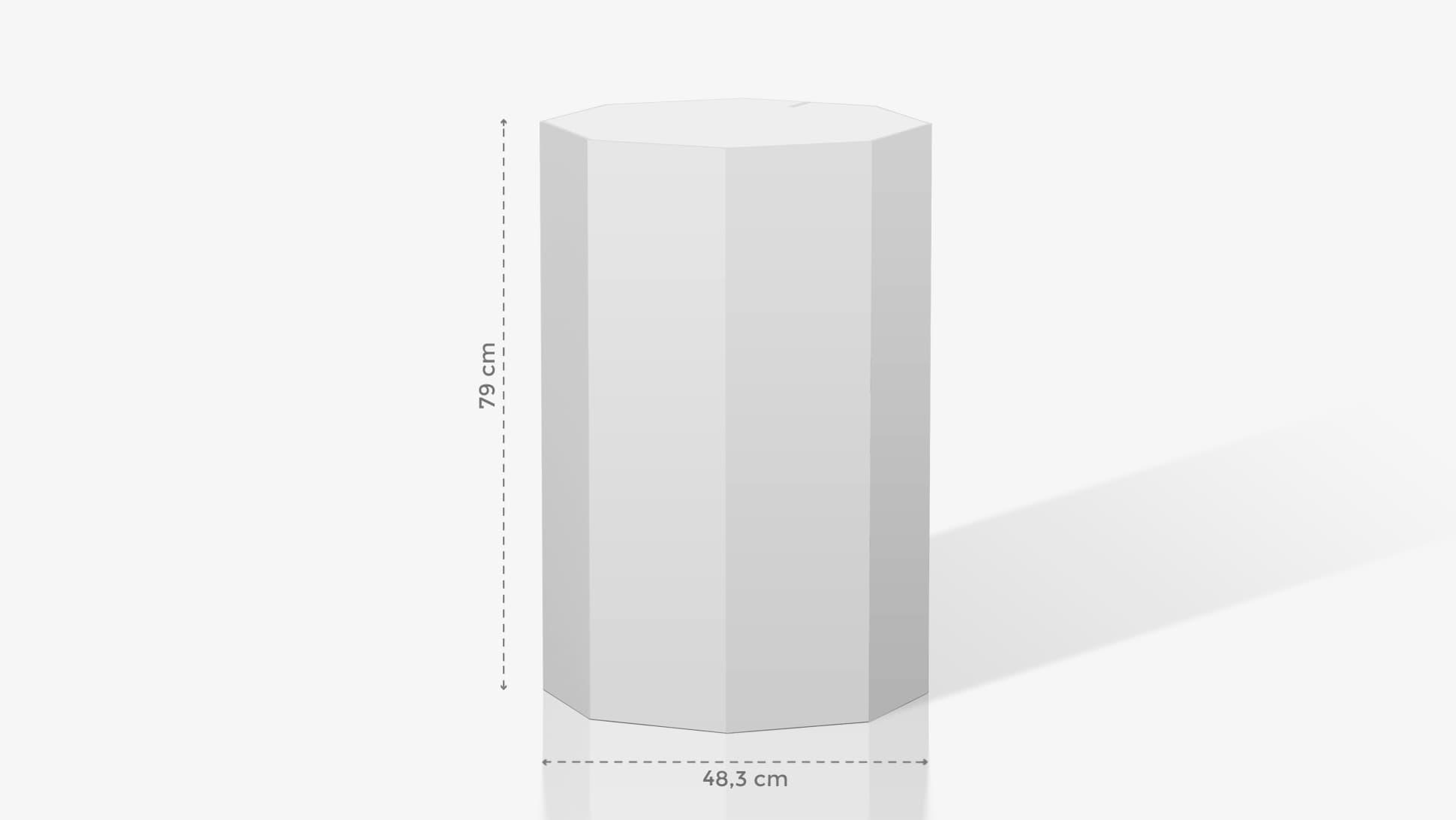 Espositore a ottagono medio-grande personalizzabile | tictac.it
