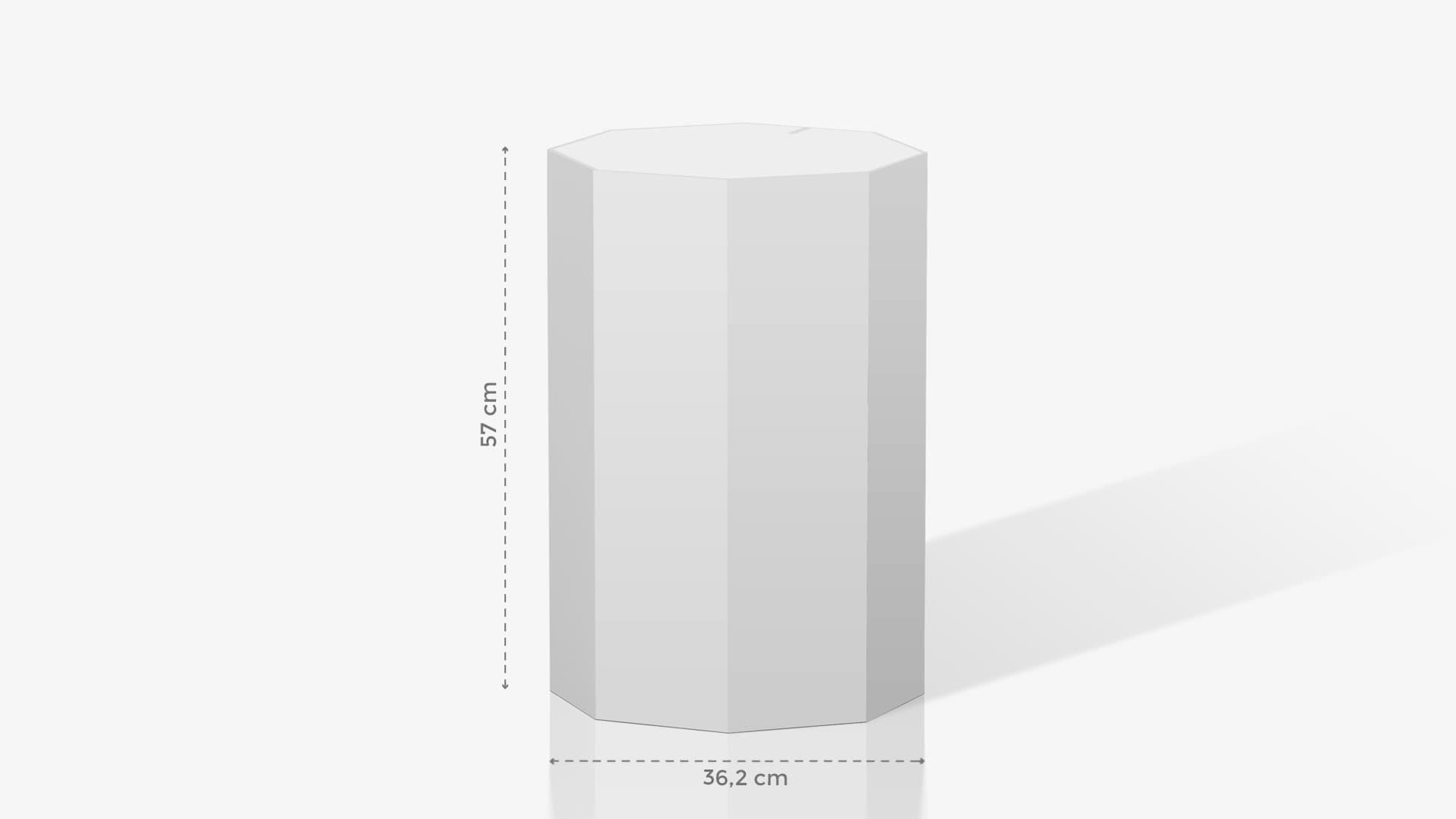 Espositore a ottagono medio-piccolo personalizzabile | tictac.it