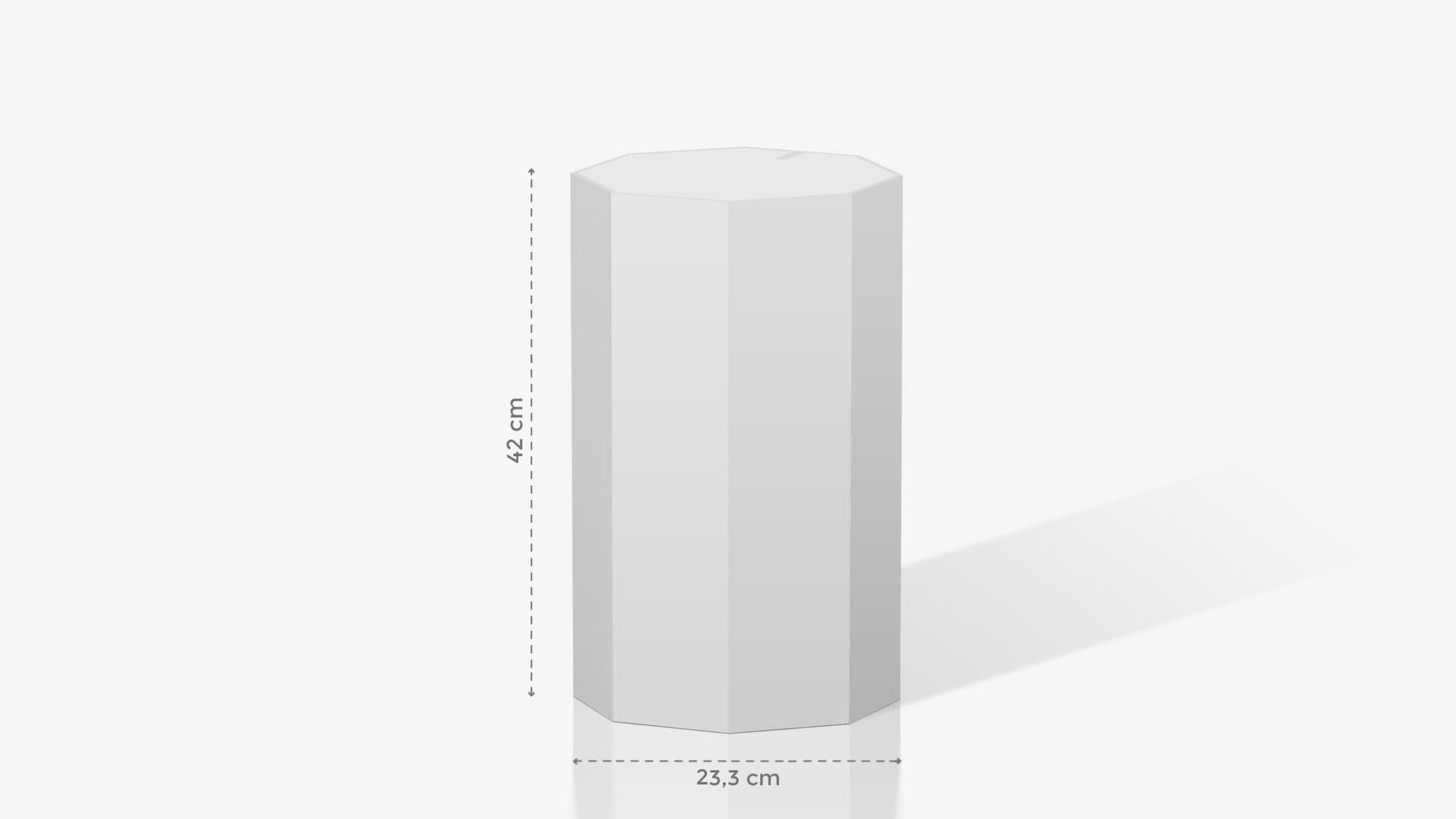 Espositore a ottagono piccolo personalizzabile | tictac.it