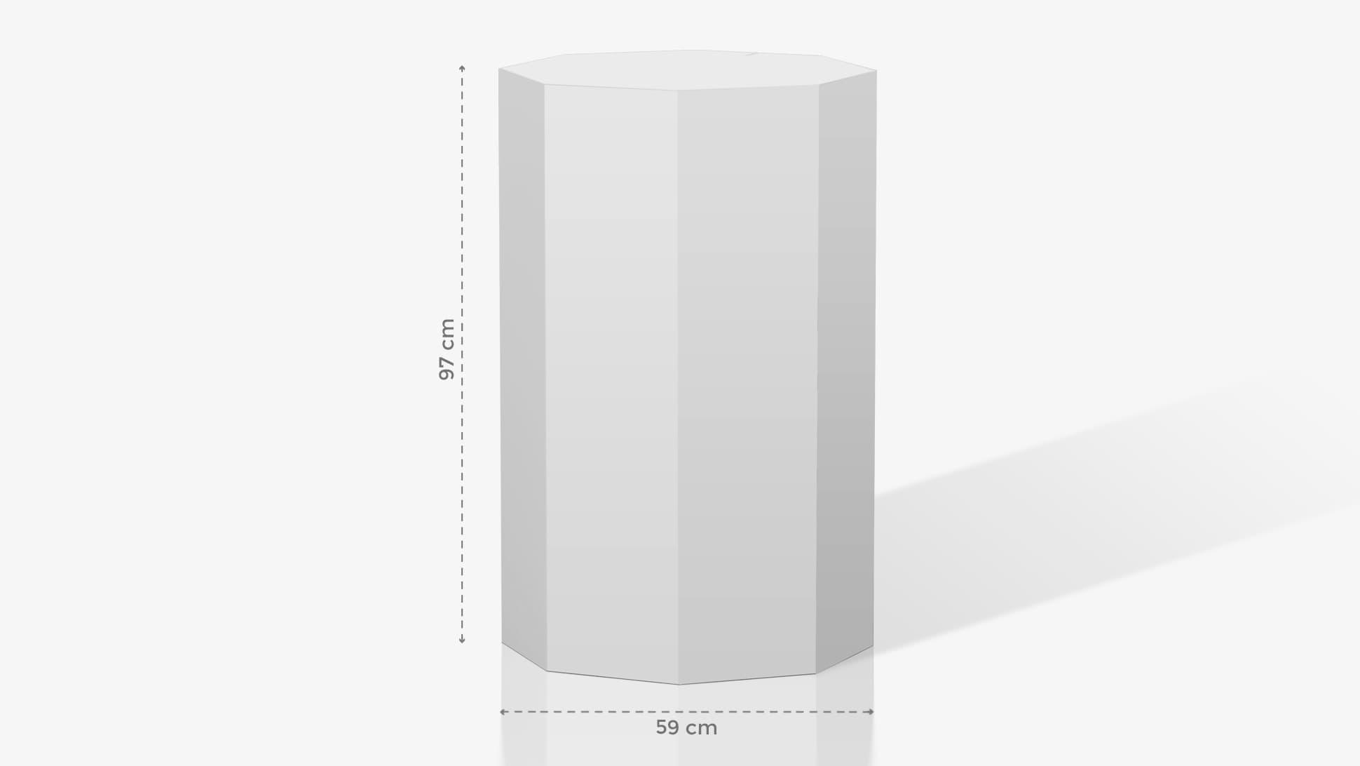 Espositore a ottagono grande – grafica personalizzata | tictac.it