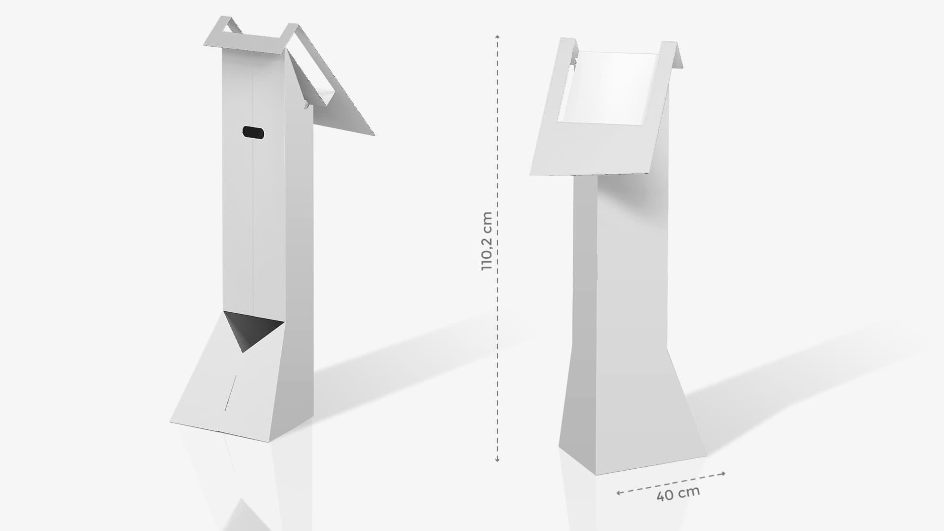 Leggio in cartone h110,2 cm personalizzabile | tictac.it