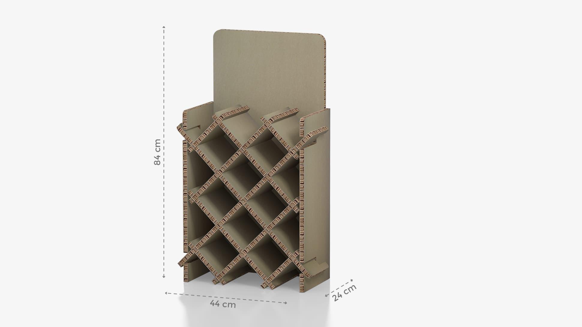 Portabottiglie medio con grafica personalizzabile | tictac.it