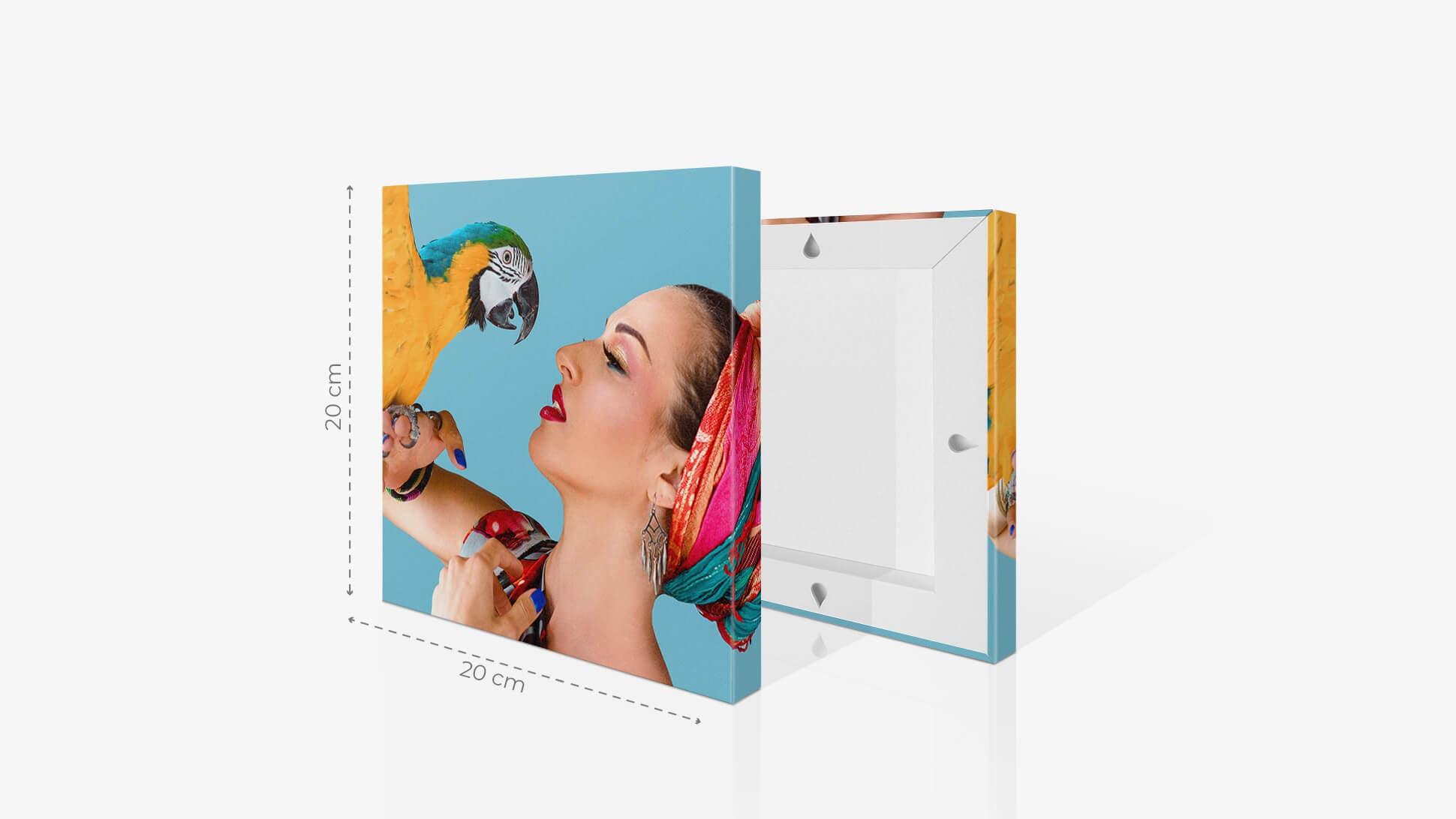 Fotoquadro 20x20cm con grafica | tictac.it