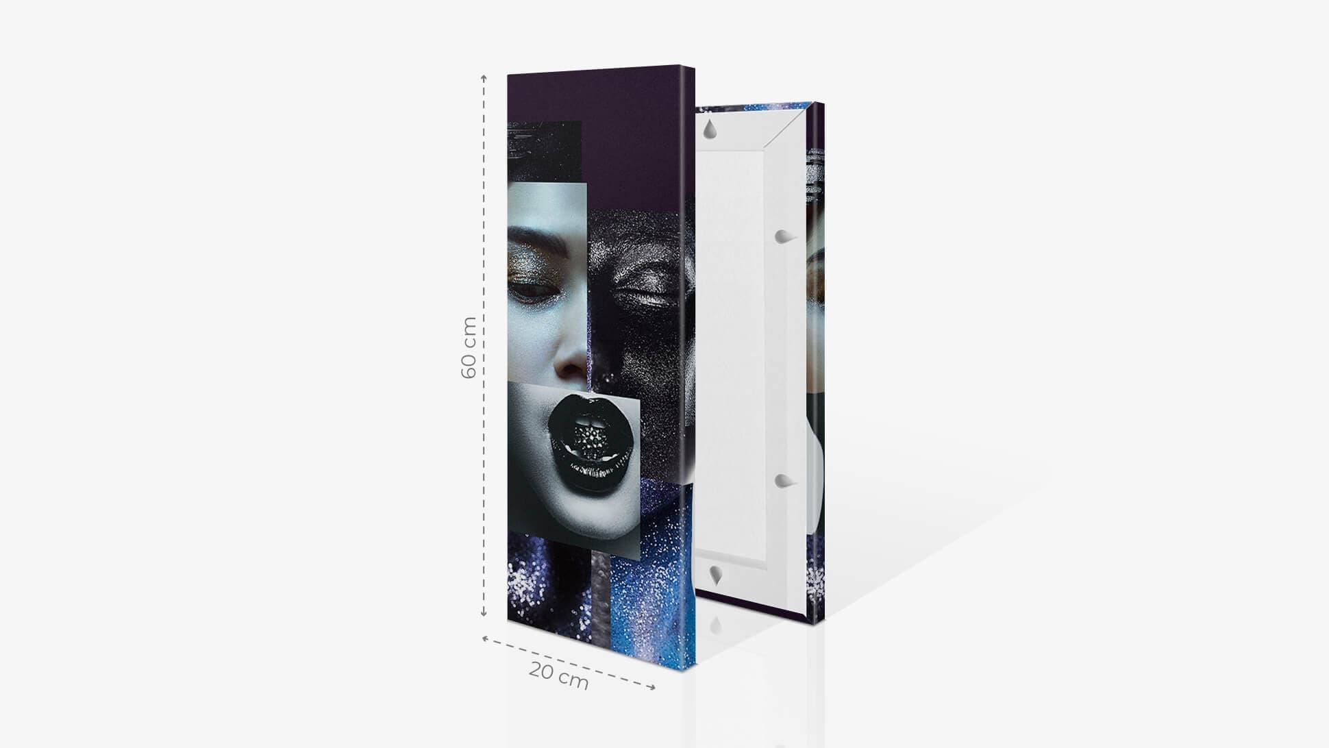 Fotoquadro 20x60cm con grafica | tictac.it